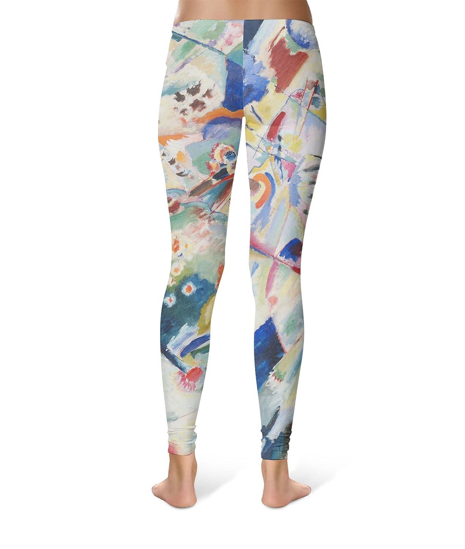Kandinsky Abstract Art Painting Leggings XS-3XL Lycra Gym ...