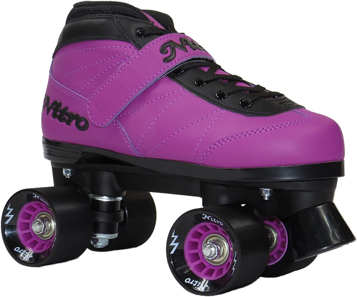 (Youth 3) - Epic Skates NitTurPrp03 Nitro Turbo Quad Speed Skates, 紫の