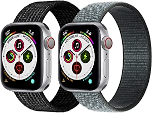 Nylon Bands Compatible with Apple Watch Bands 42mm 38mm 44mm 40mm Sport Band Compatible with Apple Watch Series 6 5 4 3 2 1 SE