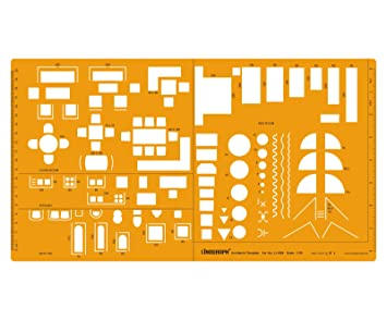Architect Drafting And Design Template Stencil Technical Drawing Scale Furniture Symbols For House Interior Floor Plan