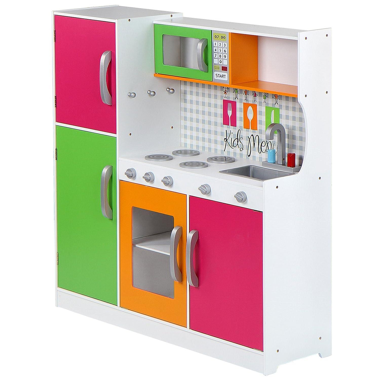 Infantastic Spielküche Kinderküche Kinderspielküche Mit 4 Herdplatten,  Ofen, Kühlschrank, Spülmaschine: Amazon.de: Spielzeug
