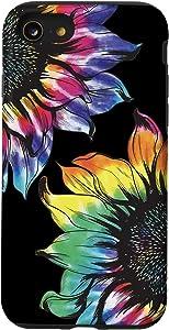 iPhone SE (2020) / 7 / 8 Tie Dye Sunflower Phone Case Fun Colorful Retro Hippie Gift Case