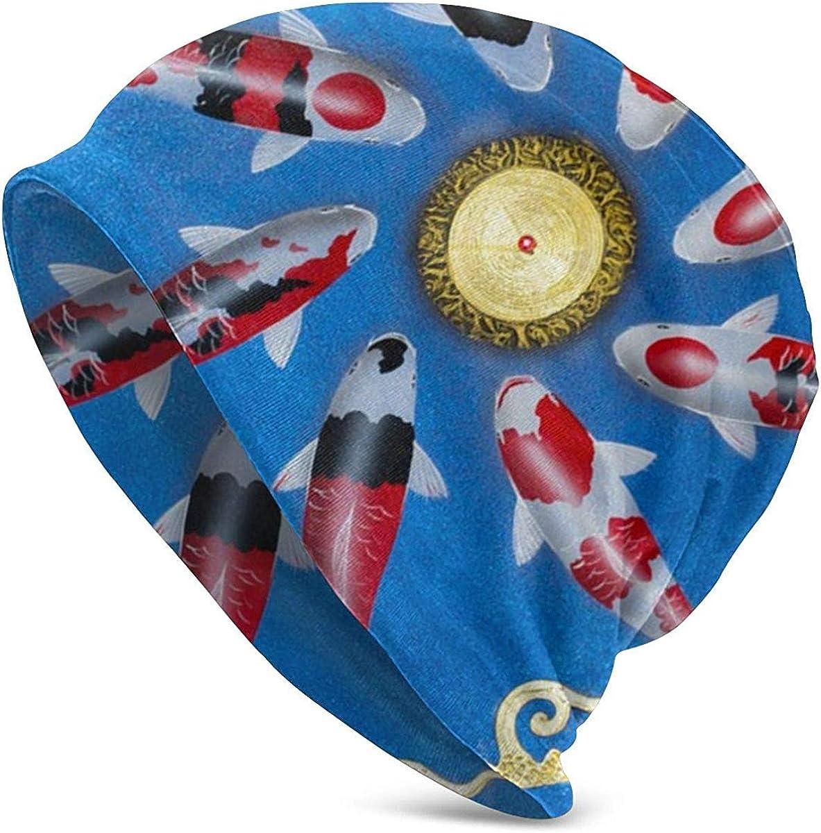 ngxiandaz - Gorro de punto para mujer, diseño de pez koi