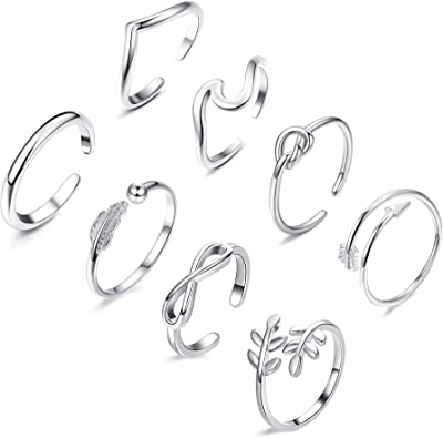 Stackable Rings Wave Rings w Stones Contemporary Made to Order