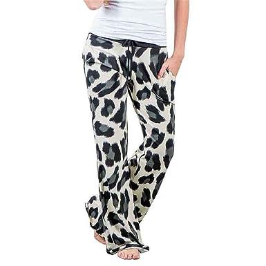 3aa3fd599c Women Pants Casual High Waist Flare Wide Leg Long Pants Womens ...