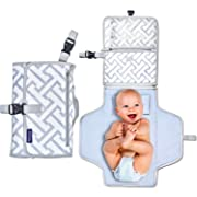Deluxe Portable Diaper Changing Pad - Makes Any Surface a Changing Station - Stylish Clutch & Easy to Fold Mat - Great for Baby Showers - Ideal for Your Infant, Newborn or Toddler