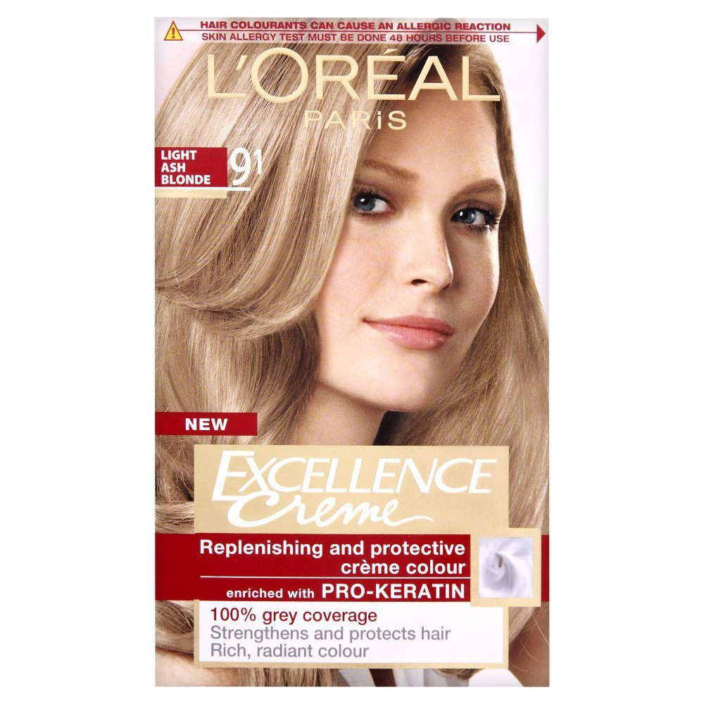 L'Oreal Excellence Permanent Hair Colour 9.1 Light Ash Blonde ...