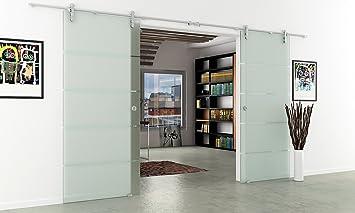Puertas correderas de cristal con 2 rebanadas puerta corrediza-Planta completa con carriles & manijas ahuecadas