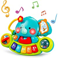 HOLA Baby Music Toys Elephant Piano Keyboard Learning Educational Toys for Infant 3 6 9 12 18 24 Months Light UP Baby…