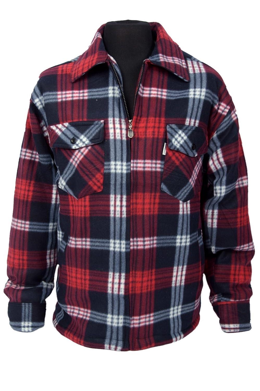 1622017515 Mens Classic Checked Lumberjack Work Shirt Jacket Fleece Plaid  Amazon.co.uk   Clothing