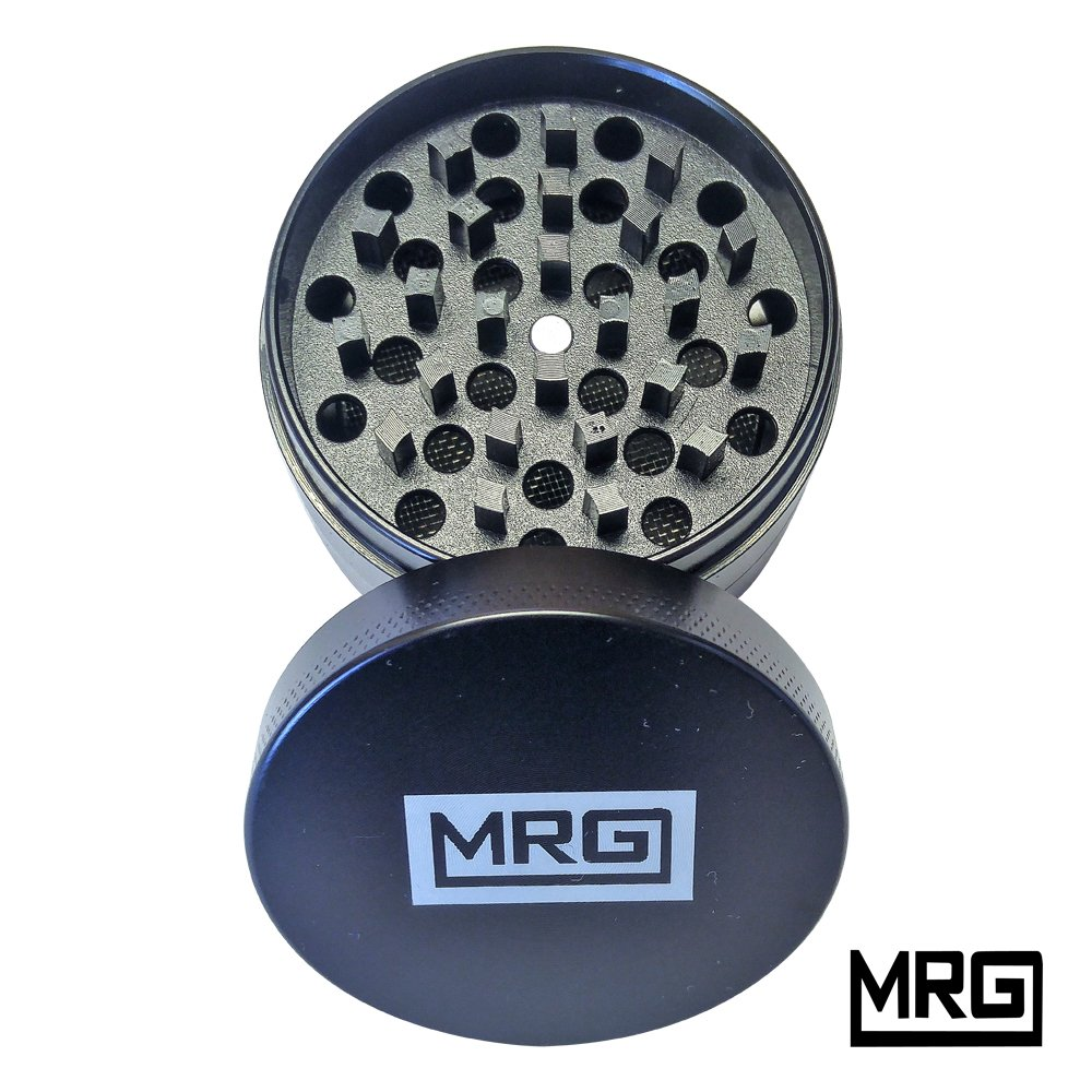 MRG Grinder - Travel Size - 2' Tobacco/Spice/Herb Grinder - All Metal - Hassle Free Return