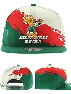 hot sales 3d484 ce524 Mitchell   Ness Milwaukee Bucks Paintbrush Snapback Hat Cap