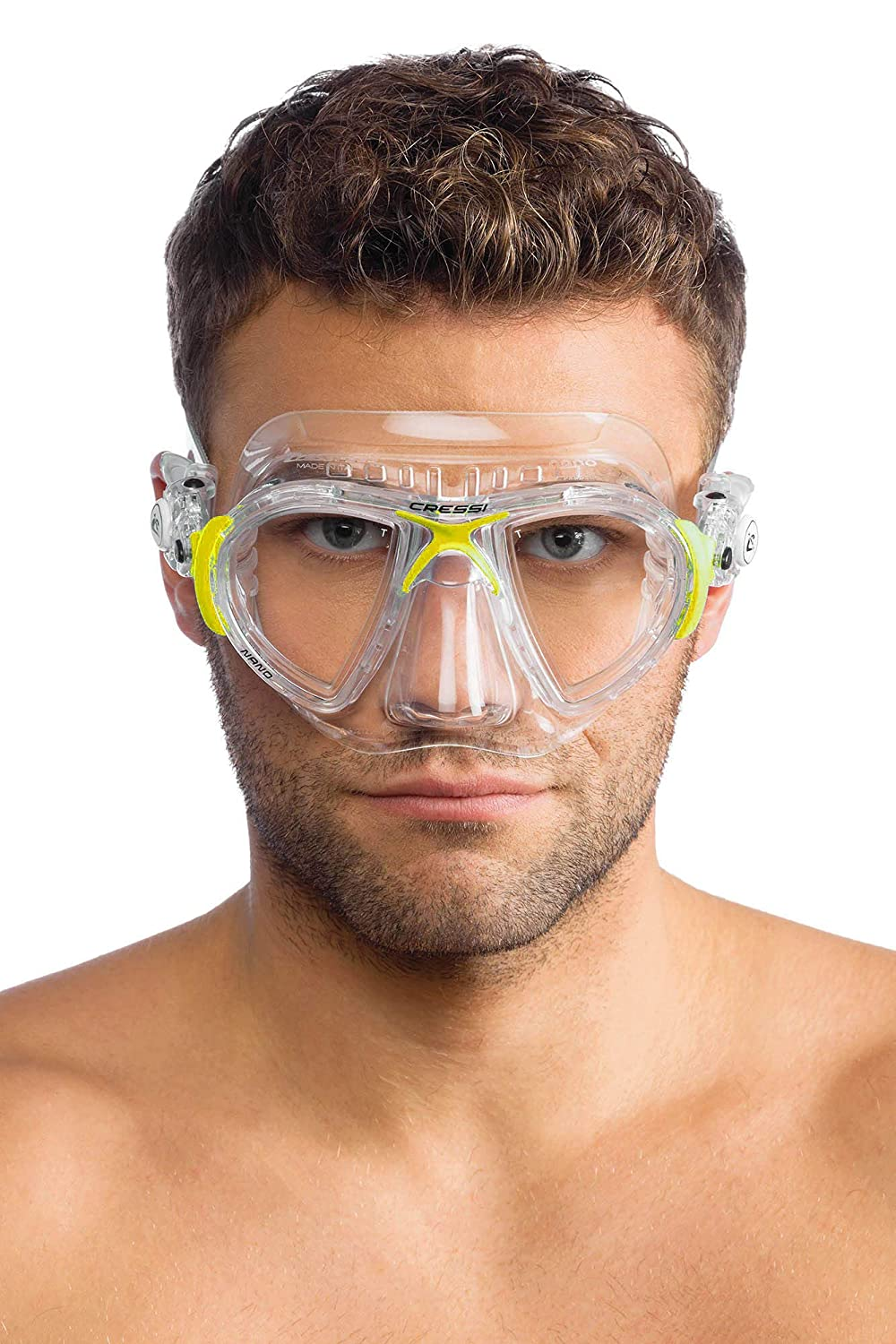 Soft SiliconeCrystal or Black Professional Scuba and Free Diving Mask Cressi Nano