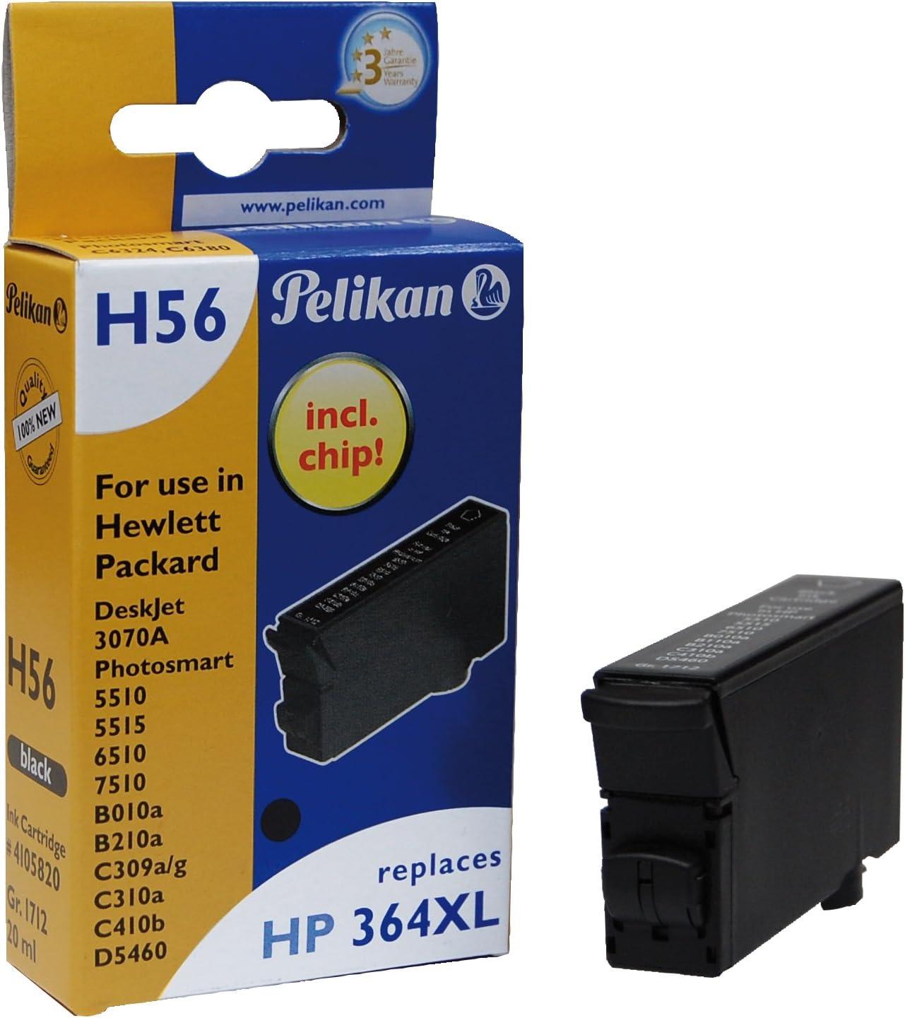 Pelikan H56 - Cartucho de tinta para impresora Hewlett Packard (20 ...