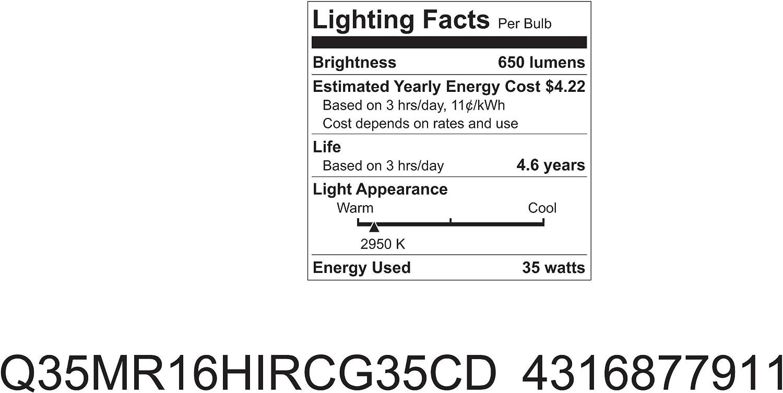 GE Lighting 77911 Halogen Indoor//Outdoor Floodlight MR16 Bulb 35-Watt