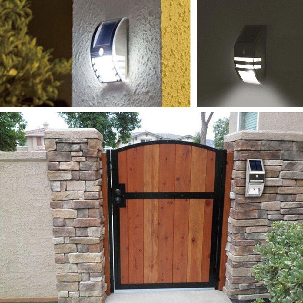 Amazon.com : OxyLED TSP 02 Solar Motion Sensor LED Wall Mount Path Light,  Silver : Garden U0026 Outdoor
