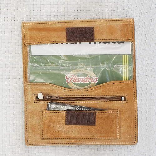 Estuche de cuero.Bolsa para tabaco de liar de piel, color cuero. Tabaquera de piel. Tabaquera de cuero artesano. Arteycuero: Amazon.es: Handmade