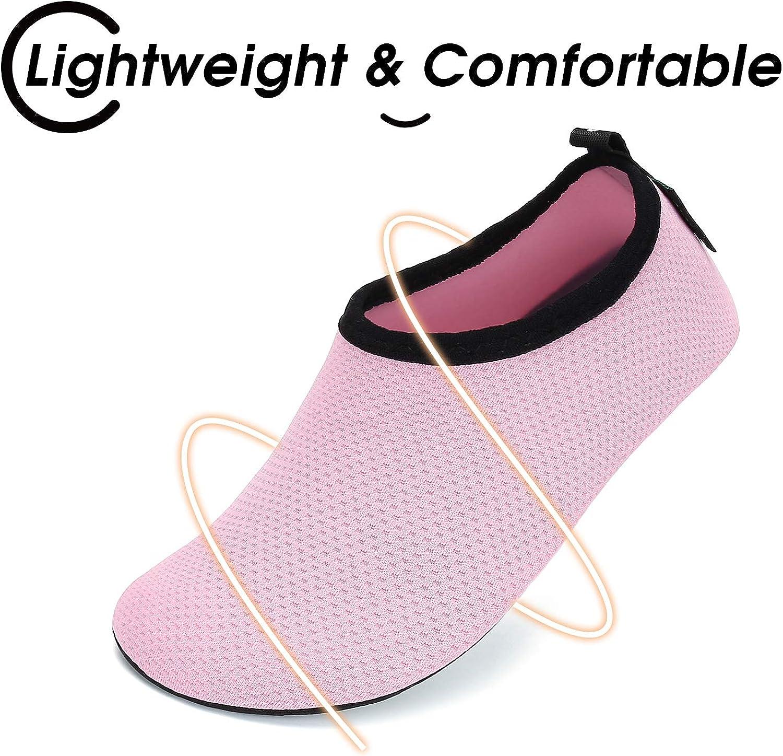 SAGUARO Kids Boys Girls Water Shoes Quick Dry Barefoot Lightweight Breathable Beach Swimming Pool Aqua Socks 1-2 Big Kid