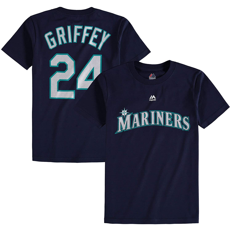 Outerstuff Ken Griffey Jr Seattle Mariners #34 Navy Kids Name /& Number Player T-Shirt