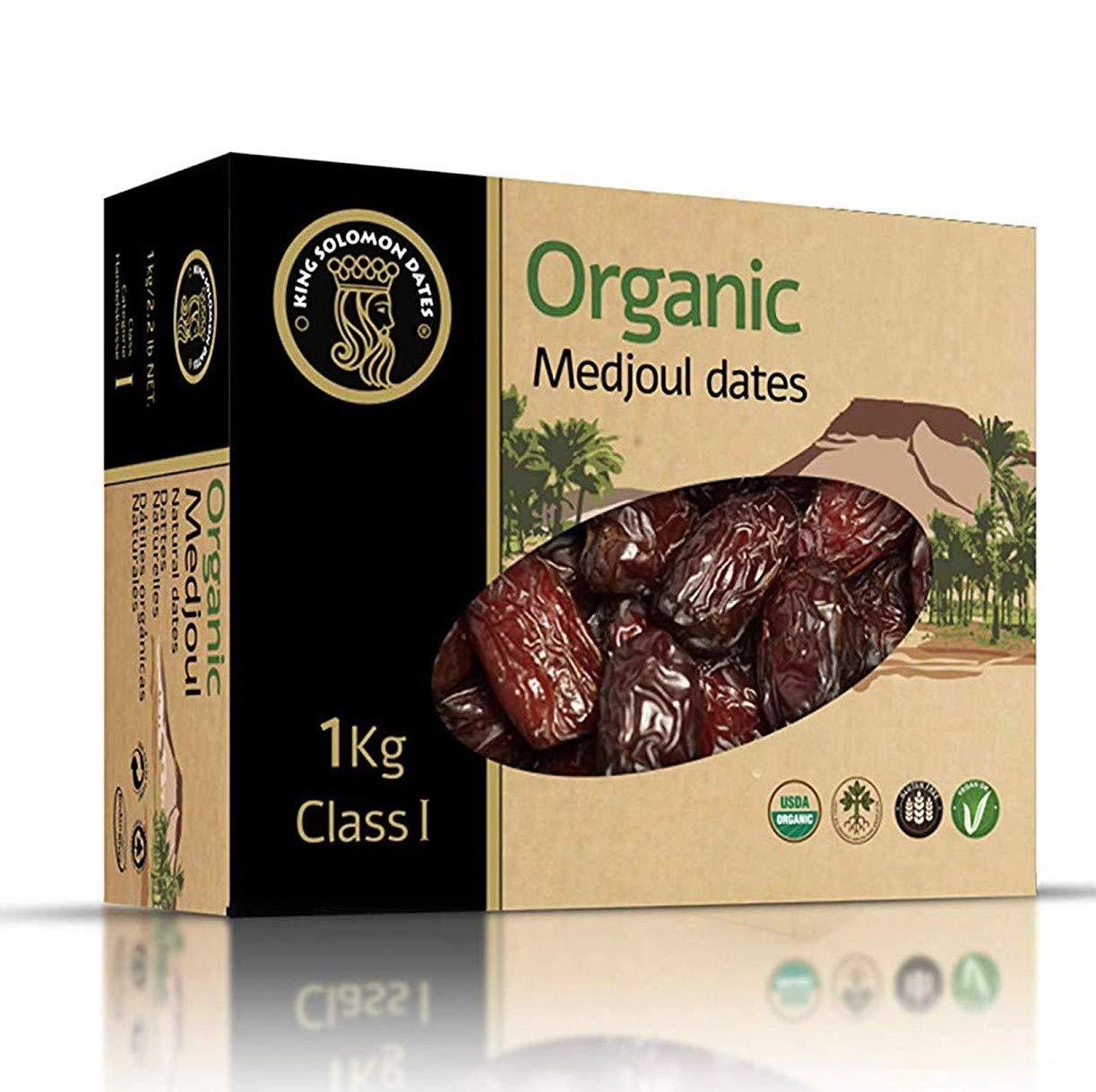 King Solomon 100% Organic Premium Medjoul (Medjool) Dates, 2.2lbs