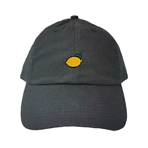 Amazon.com  Go All Out Adjustable Black Adult Lemon Embroidered Dad ... 620e790d0ff