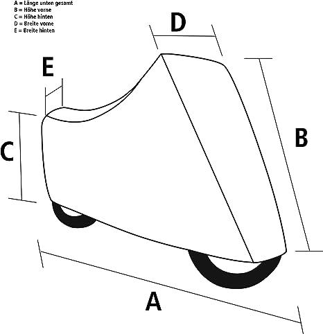 Polo Motorradabdeckung Motorradplane Motorradgarage Outdoor Abdeckplane M Fenster Schwarz Silber Größe Xxl Unisex Multipurpose Ganzjährig Auto