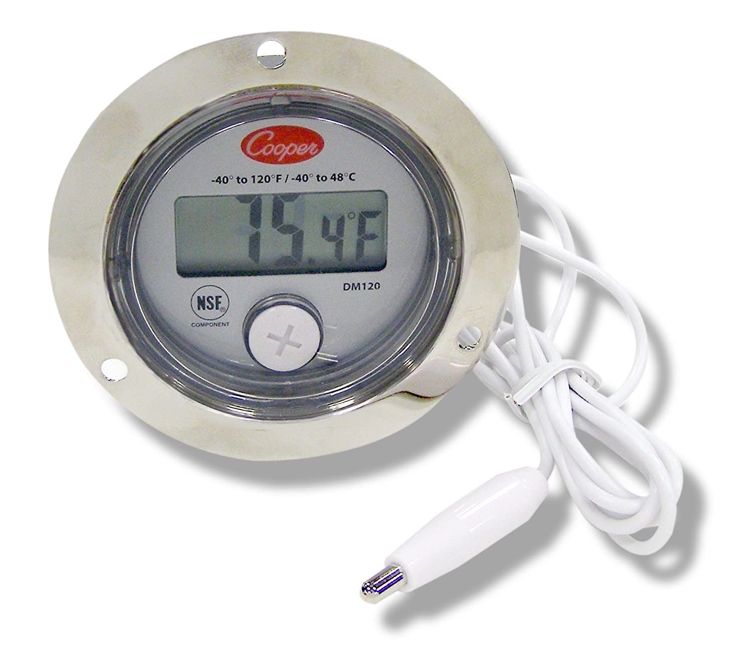"""Cooper-Atkins DM120-0-3 Digital Panel Thermometer with 2"""" Front Flange, -40/120° F Temperature Range"""