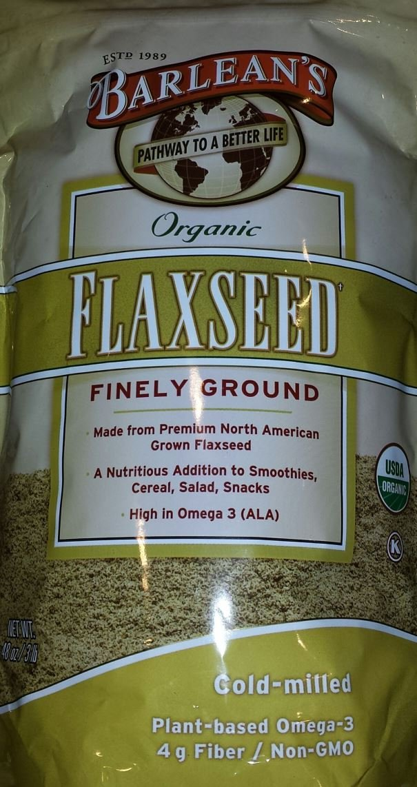 Barleans Organic Flaxseed Supplement Finely Ground 48 oz