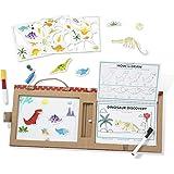 Melissa & Doug 41321 Återanvändbar Teckning & Magnetkit – Dinosaurier