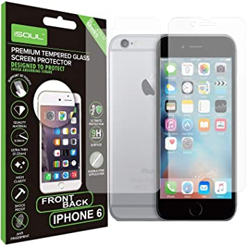 Front + Back  Screen Protector for iPhone 6 6s Tempered Glass Film 9h HD 3750374fe56a