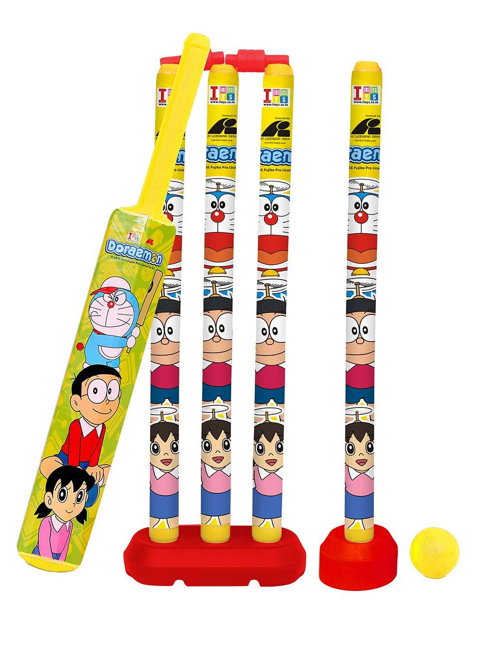 Doraemon Cricket Set with 4 Wickets