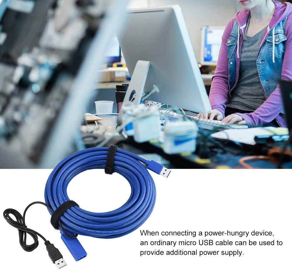 USB3.0 Extension Cable,USB3.0 Male to Female High Speed Extension Adapter Cable ASHATA USB Extension Cable Blue 8m