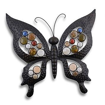 Metal Butterfly Garden Wall Art For Garden Home Amazoncouk