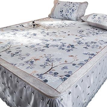 Colchones de colchón de Verano Fresco Colchoneta de Seda de Hielo 3 Piezas 1.8 m Colchón