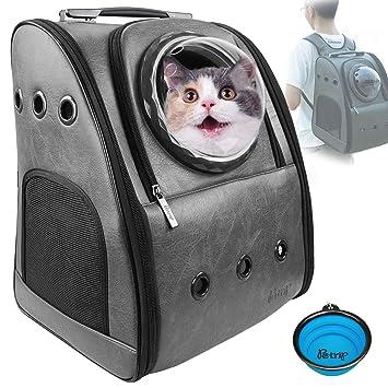 Amazon.com: PETRIP Mochila para gato para perros grandes, 24 ...