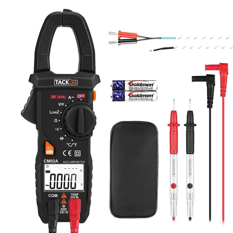 Tacklife CM02A Avanzado Pinza Multimeter detección de voltaje sin contacto (NCV), true RMS