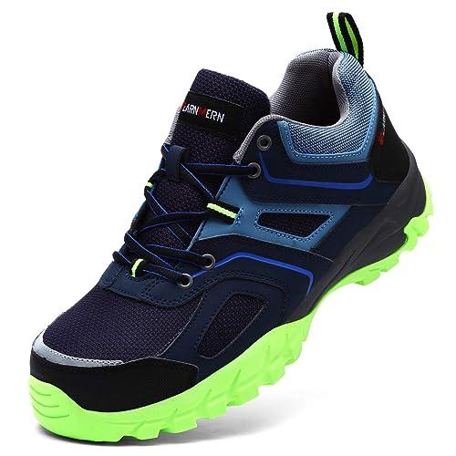 f029827f458 LARNMERN Mens Steel Toe Cap Safety Trainers Reflective Strip SRC Non-Slip  Wear-Resistant Steel Midsole Work Shoes