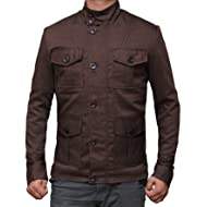 Decrum Casual Mens Lightweight Jacket - Military Denim Light Jackets for Men