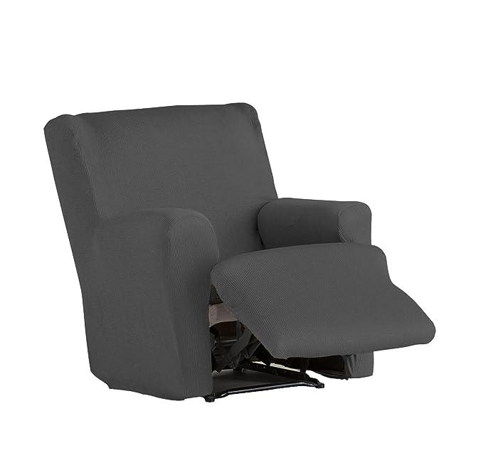 Eysa Ulises - Funda de relax pies juntos elástica para sillón, color marrón