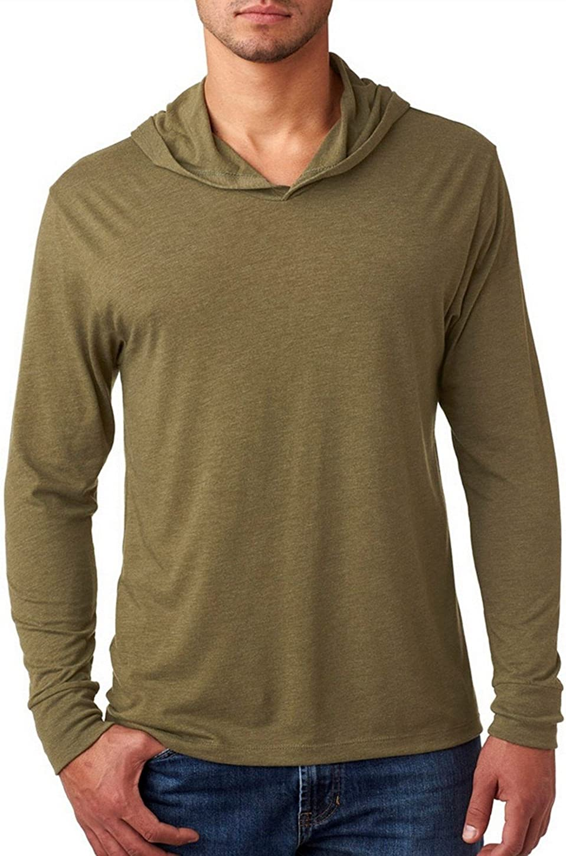 Next Level Adult Triblend Long-Sleeve Hoody XL MILITARY GREEN