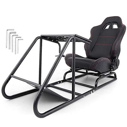 Amazon Com Vevor Driving Simulator Seat Adjustable Driving Gaming