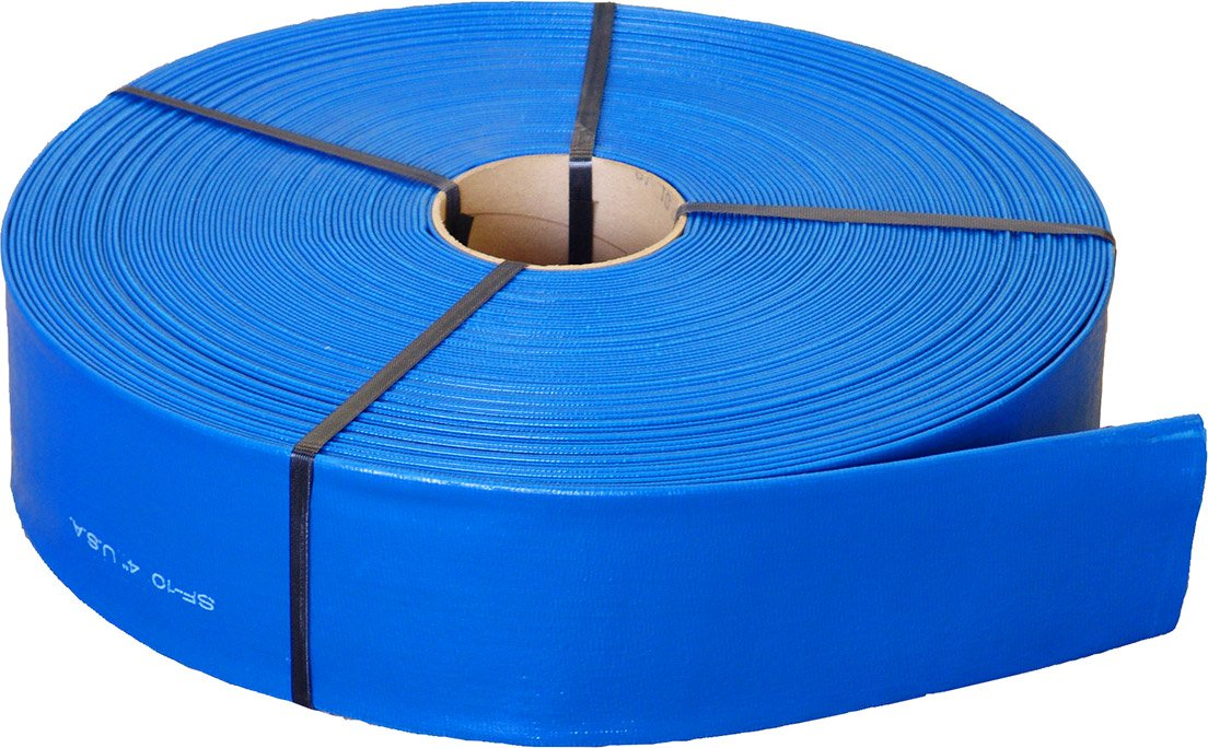 Sun-Flow SF10E-0200 2'' Lay Flat Hose, 300' Sun-Flow PVC SF10