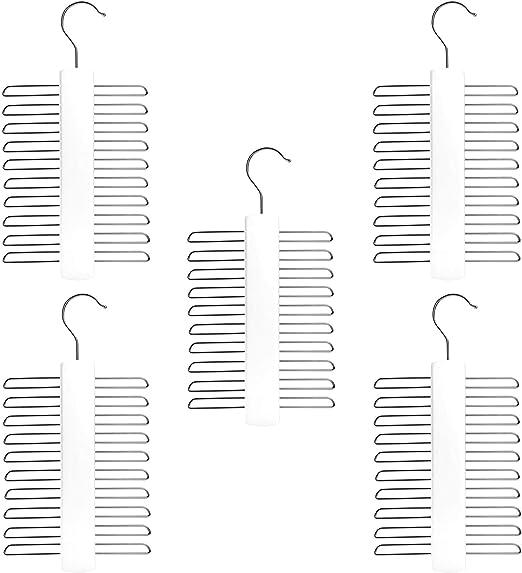 Corbatero de Madera para 20 Corbatas/Cinturones/Bufandas - Ganchos ...