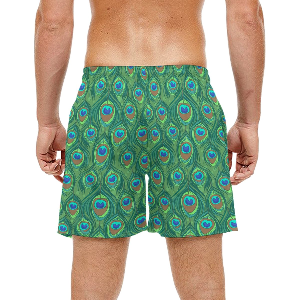 c1e571b91d3ea COOSUN Men's Colorful Peacock Feather Beach Board Shorts Quick Dry Swim  Trunk: Amazon.co.uk: Clothing