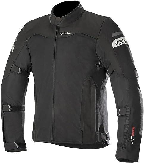 Schwarz S Alpinestars Motorradjacken Leonis Drystar Air Jacket Black