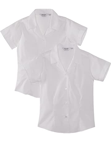 e31a1f36 Trutex Limited Girl's Pack of 2 Easy Care Plain Blouse