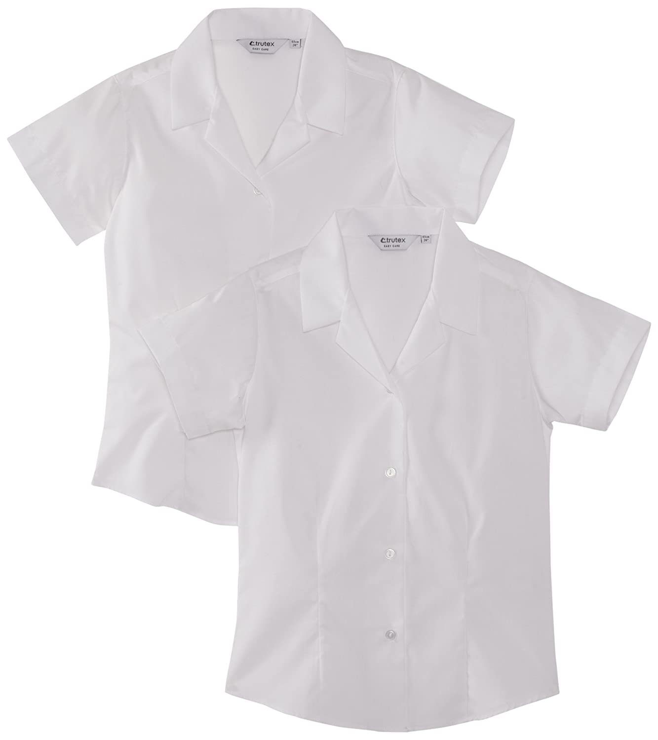 Trutex Limited Girl's Pack of 2 Easy Care Plain Blouse