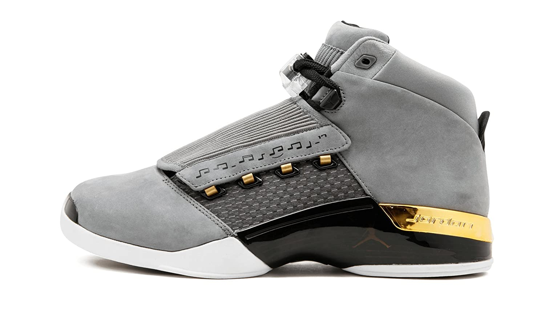 new product 34c2b eee6c Amazon.com   Jordan Air 17 Retro Trophy Rm (Cool Grey Metallic Gold-Black,  7.5)   Basketball
