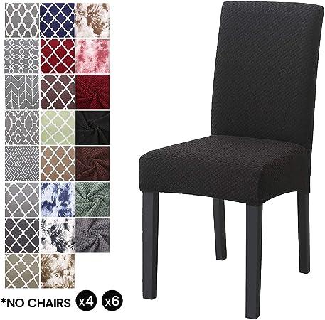 LiveGo Fundas para sillas de Comedor, elásticas y Modernas ...