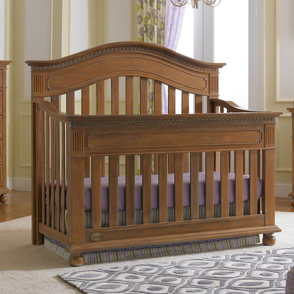 Full Size Conversion Kit Bed Rails for Dolce Babi Naples Crib - Walnut Brown by CC KITS (Image #4)